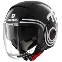 Shark - casque jet moto scooter Nano 72 Kbw noir blanc bleu brillant S