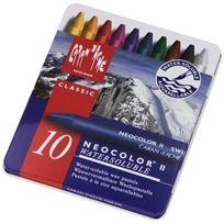 Caran d-Ache - Caran D'ACHE Neocolor Ii - Crayons Pastels Cire Soluble Dans L'EAU - Bote De 10