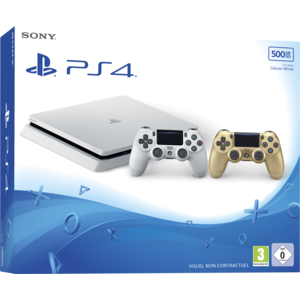 sony playstation 4 slim 500 go blanche dualshock 4. Black Bedroom Furniture Sets. Home Design Ideas