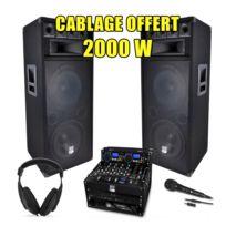 My Deejay - Pack Sono Dj Complet 2000W Ampli Lecteur Cd Ibiza