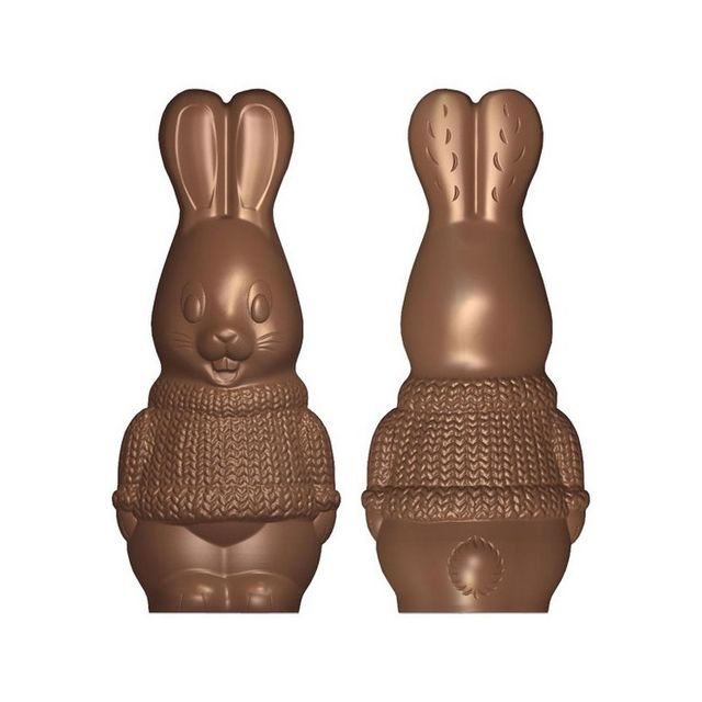 Moule à chocolat Lapin avec pull