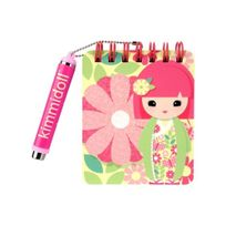 Kimmidoll - junior - Carnet a siprales et son stylo - Eden