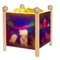 Trousselier - Animaux De La Ferme - Lanterne Magique / Veilleuse Blanc H19cm - Luminaire enfants designé par