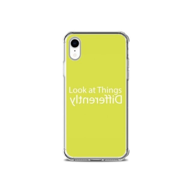 coque iphone xr look at different things yellow shop gasoline
