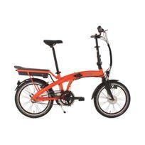 """Adore - Vélo assistance électrique pliant 20'' Zero E-bike 20"""" orange 3 vit 250 Watt Li-Ion 36V/10,4Ah"""