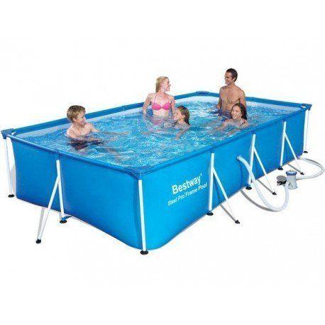 bestway piscine tubulaire rectangulaire family splash. Black Bedroom Furniture Sets. Home Design Ideas