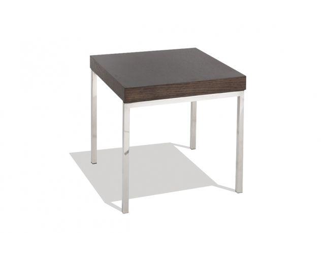 mose table basse acier et bois brun naturel pas cher achat vente meubles tv hi fi. Black Bedroom Furniture Sets. Home Design Ideas