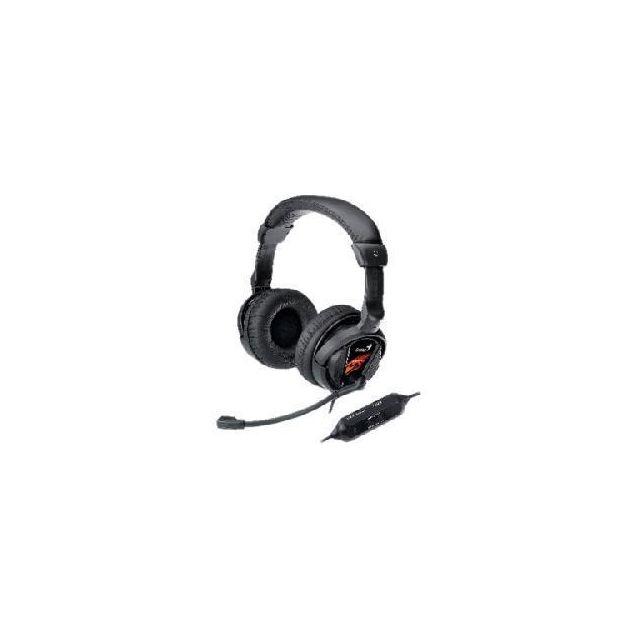 GENIUS HS-G500V, casque Gaming Le Genius HS-G500V bénéficie d'un confort remarquable grâce à son design ergonomique et son serre-tête en similicuir. Il deviendra un accessoire incontournable de vos jeux vidéo, son micro et sa fonction de vibration aliment