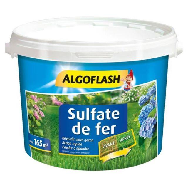Algoflash Sulfate de Fer Reverdit Votre Gazon 5Kg