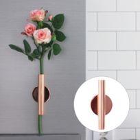 Wewoo - Pot de fleur rose Accueil Art mural Décoration suspendue Arrangement de fleurs artificielles Support en métal Vase Or