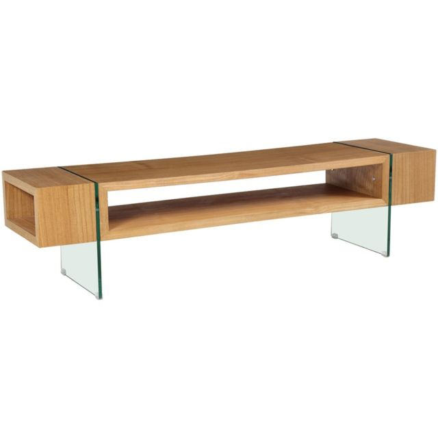 habitat et jardin meuble tv firenze 160 x 40 x 40 cm finition chne marron pas cher achat vente meubles tv hi fi rueducommerce