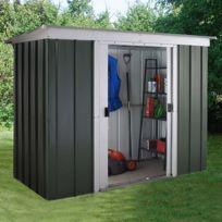 - Abri Métal 3,55 m², portes : L120 x H158cm