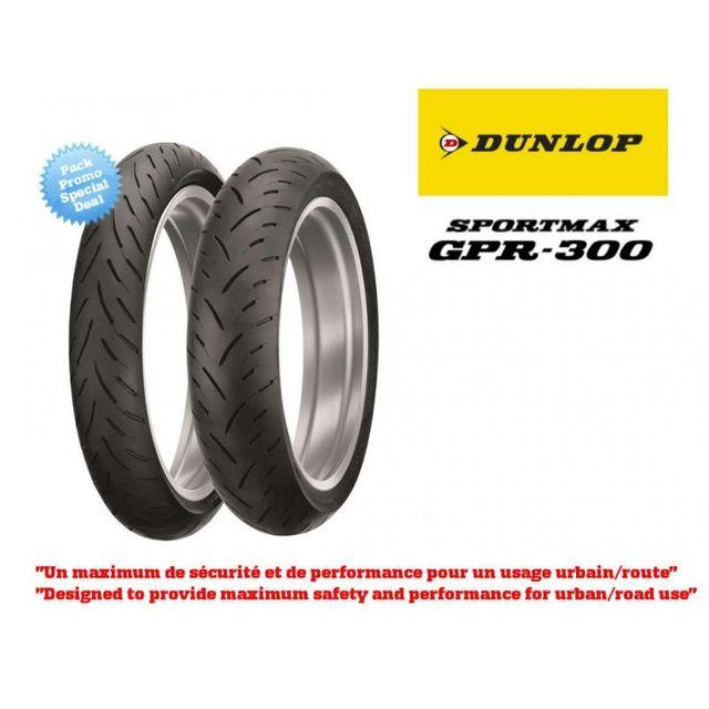 dunlop train de pneus sport touring sportmax gpr300 120 70zr17 190 achat vente pneus motos. Black Bedroom Furniture Sets. Home Design Ideas