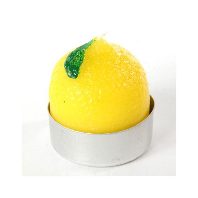 Comptoir Des Bougies Lot de 6 bougies parfumées Fruit - Citron