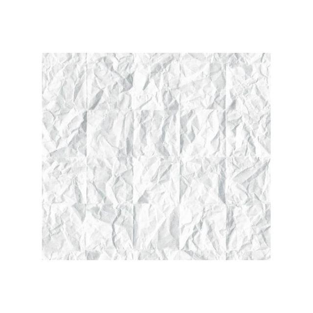 Declikdeco   Papier peint blanc effet froissé   pas cher Achat