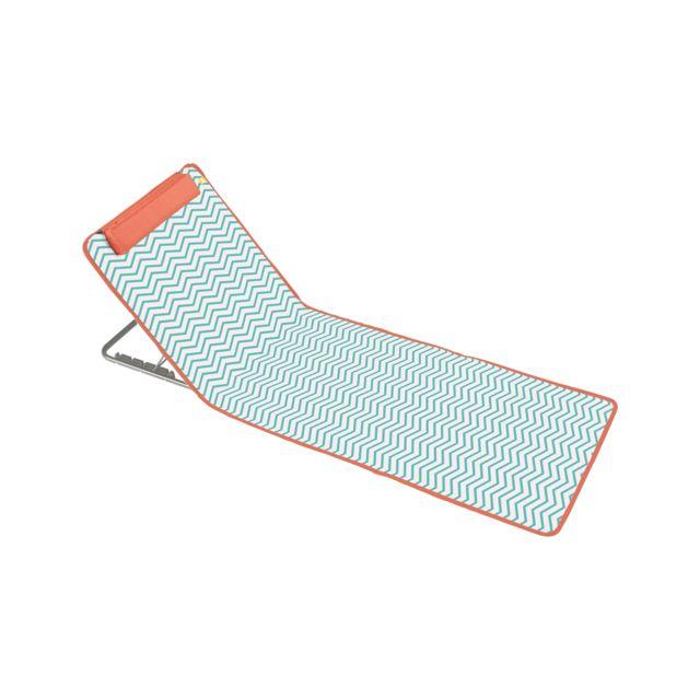 Oviala clic clac des plages matelas de plage zigzag pas cher achat vente chaises de jardin - Matelas de plage cale dos ...