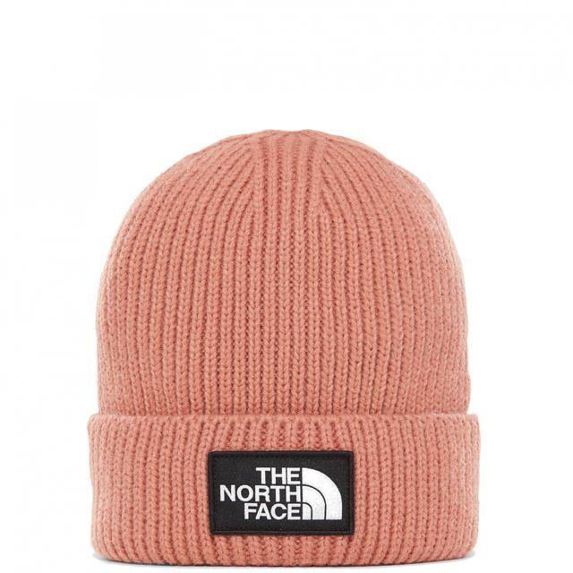 d90bccbdd4 The north face - Bonnet Logo Box Cuffed Misty Rose - pas cher Achat / Vente  Casquettes, bonnets, chapeaux - RueDuCommerce