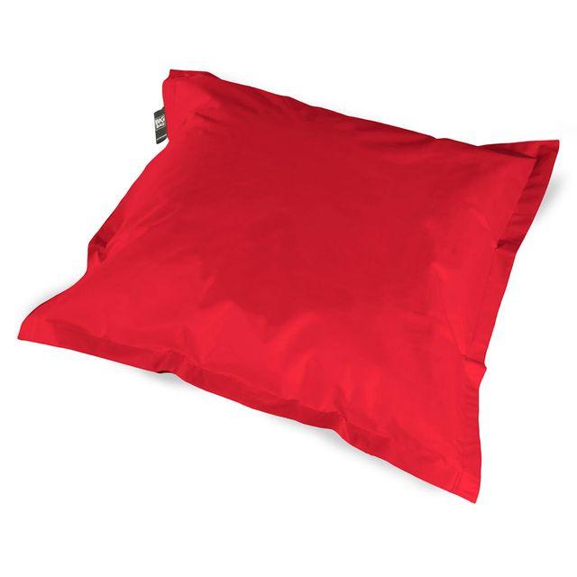 coussineo coussin geant big bag 110x110 cm rouge pas cher achat vente coussins galettes. Black Bedroom Furniture Sets. Home Design Ideas