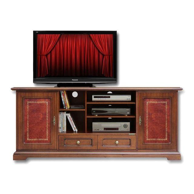 Arteferretto Meuble Tv Home Cinéma en véritable cuir