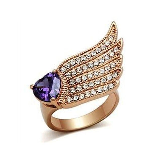 Best Of Bijoux BestOfBijoux® - Earleen - Bague Femme - Bague Coeur - Plaqué Or Rose - Oxyde de Zirconium