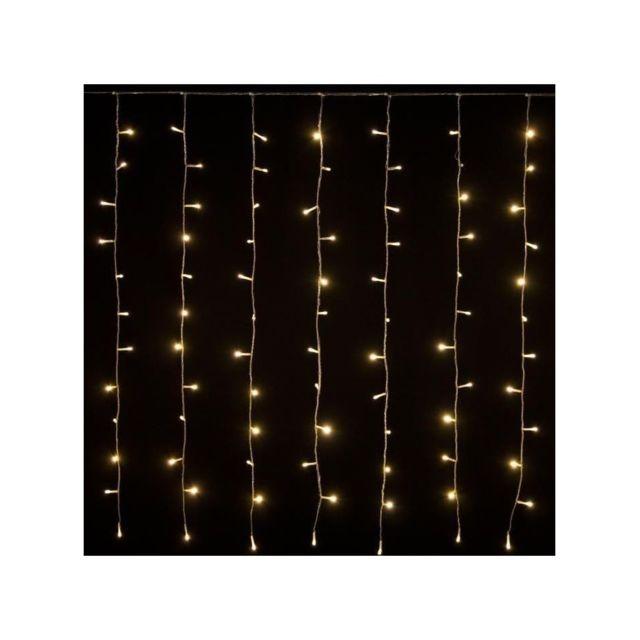 lotti xmasking rideau lumineux d 39 ext rieur no l blanc chaud l 255 x h 110 cm pas cher. Black Bedroom Furniture Sets. Home Design Ideas