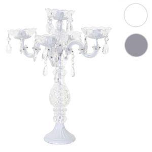 mendler bougeoir cristal chandelier cand labre acrylique 5 branches 44x35x35cm blanc. Black Bedroom Furniture Sets. Home Design Ideas