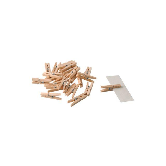 PW INTERNATIONAL - mini pince a linge bois - sachet de 48