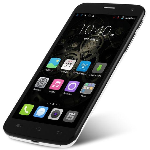 Auto-hightech Smartphone Quad Core, 5.0 pouces, Android 4.4, 3G, double caméra - Blanc