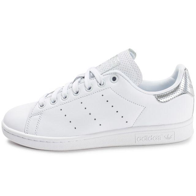 images détaillées cc2c5 dc96c Adidas originals - Stan Smith Blanche Et Argent - pas cher ...