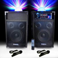 Ibiza - Enceintes active-pass. 250W Karaoké 2 mic + Astro
