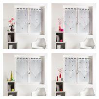 Bonareva - Paire de voilage - 60 x 160 cm - Yoyo - Finition pointe vert