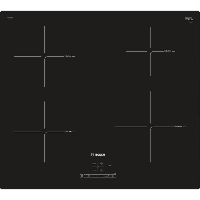 Bosch table de cuisson induction 60cm 4 feux 7400w noir - pie611bb1e