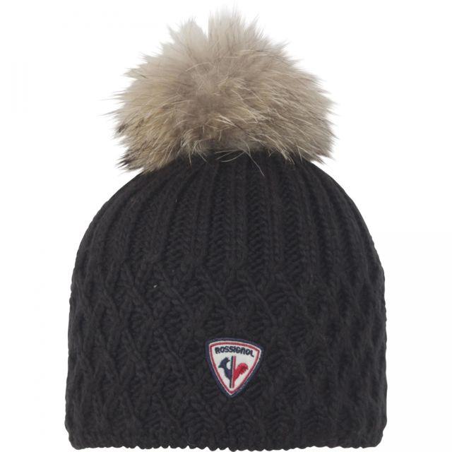 Rossignol - Bonnet W Isy Black Noir - pas cher Achat   Vente Casquettes,  bonnets, chapeaux - RueDuCommerce bf34230be52