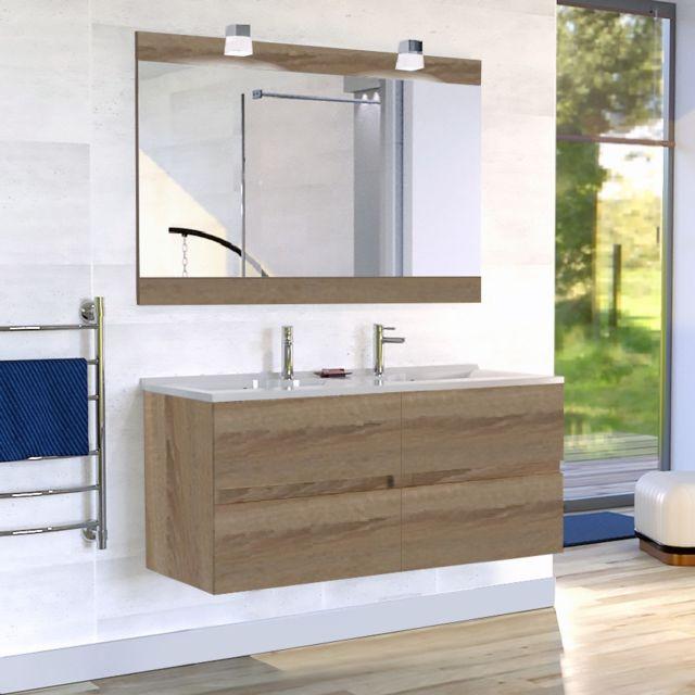 strong Creazur  strong  meuble salle de bain double vasque rosaly 120 19e7715062b1