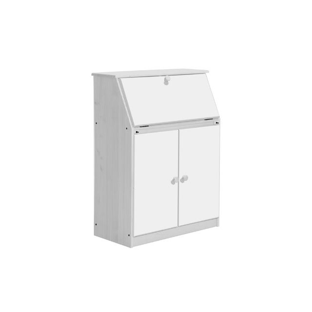 Bureau gain de place Hobby coloris blanc