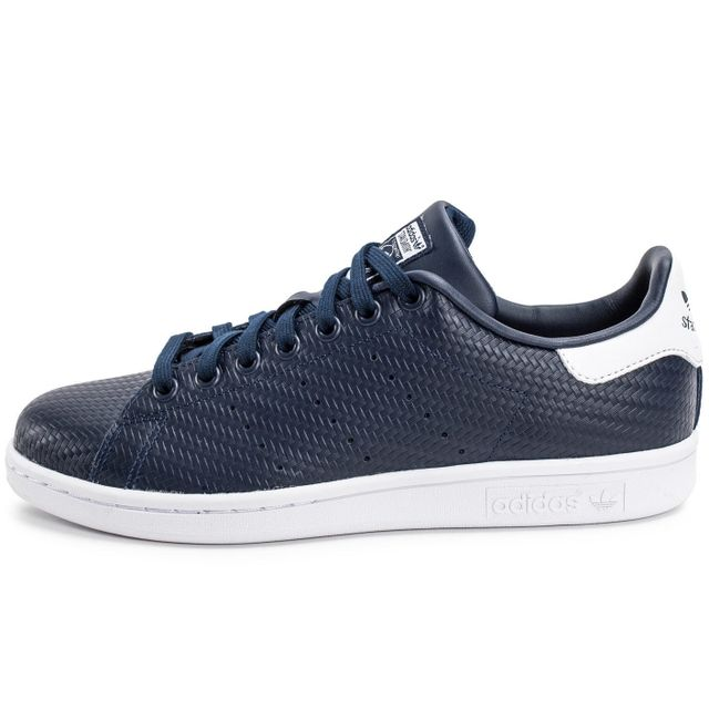 Adidas originals - Stan Smith Relief Bleu Marine - pas cher ...
