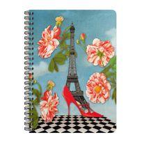 Les Cakes De Bertrand - Cahier à Spirales A5 - 180 pages - Tour Eiffel Escarpin