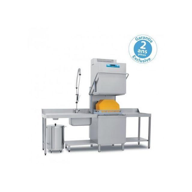 Materiel Chr Pro Lave-vaisselle à capot avec pompe de vidange intégrée - panier 500 x 600 mm