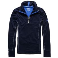 new arrival 0bd09 c437b Sports Athletic Zip Henley Sweat Demi Zip Homme - Taille L - Bleu
