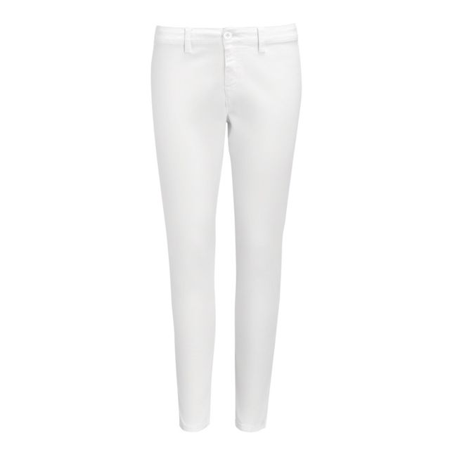 SOL Sols Jules - Pantalon chino - Femme FR 40, Blanc Utpc2577