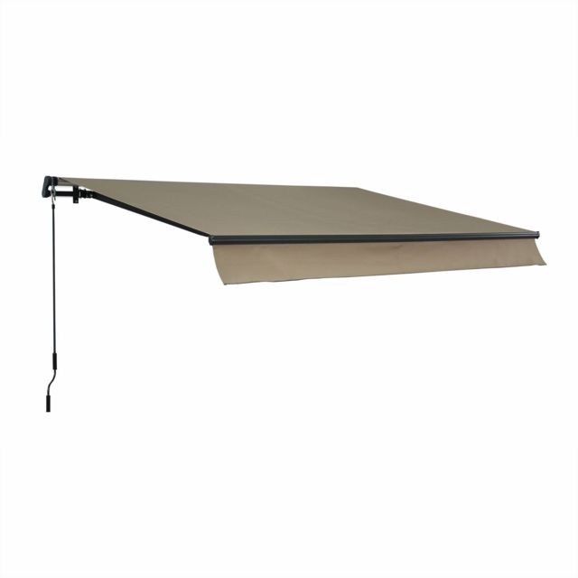 alice 39 s garden store banne alombra 3x2m taupe monobloc aluminium syst me manuel sans. Black Bedroom Furniture Sets. Home Design Ideas