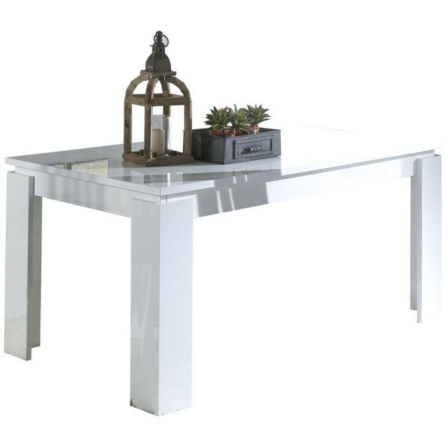 Altobuy Nevada Blanc - Table Rectangulaire Extensible