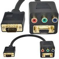 Cabling - Convertisseur Vga M/F vers 3xRCA - Premium