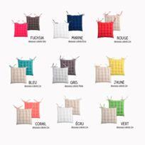 Bonareva - Galette de chaise - 40 x 40 cm - Duo - Bicolore - Différents coloris fushia