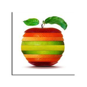Soldes hexoa tableau d coration cuisine pomme orange - Tableau design pour cuisine ...