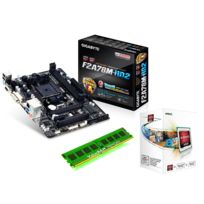 RUE DU COMMERCE - Kit d'évolution AMD A4-4000 3.0 GHz, + Gigabyte GA-F2A78M-HD2 + 4 Go DDR3 1333 Mhz