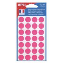 Agipa - Pastilles adhésives Ø 15 mm 11184 rose - Pochette de 168