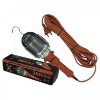 Brixo - Lampe de travail portable 60W Cable de 10 m - Support à crochet Protection métal