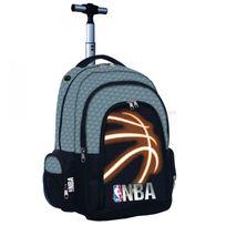 Nba Basket Usa - Cartable à roulettes Nba Basket 45 Cm Black Neon Haut de gamme