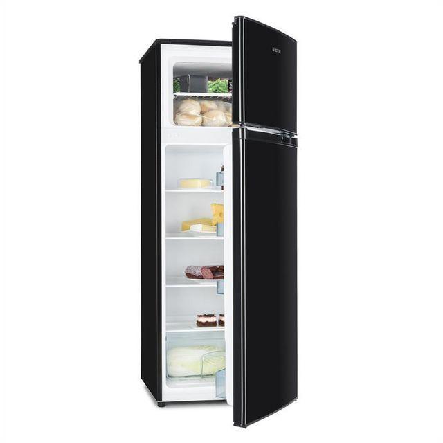 KLARSTEIN Height Cool Black Combiné réfrigérateur congélateur 199/53l Classe A